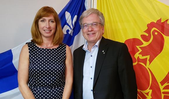 Pascale Delcomminette et Rémi Quirion